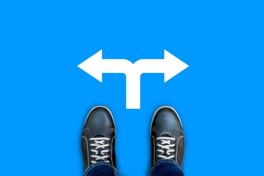 Een kruispunt in het leven